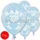 "12""/30 cm lateksa baloni, Baby Boy, 15 gab."