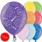 """12""""/30 cm lateksa baloni, Saluts, 15 gab."""