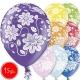 "12""/30 cm lateksa baloni, Ziedi, 15 gab."