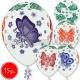 "12""/30 см шар из латекса, Бабочки мульти, 15 шт."
