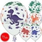 """12""""/30 cm lateksa baloni, Dinozavri   multi, 15 gab."""