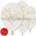 "12""/30 cm lateksa baloni, Baloži, perle , 15 gab."