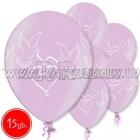 """12""""/30 см шар из латекса, Голуби, розовый, 15 шт."""