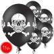 "12""/30 cm lateksa baloni, Galvaskauss, melna, 15 gab."
