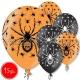 "12""/30 cm lateksa baloni, Zirneklis, sortiments,  15 gab."