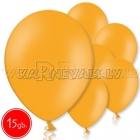 """10.5""""/27см шар из латекса  пастель, оранжевый 15 шт."""