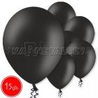 """10.5""""/27см шар из латекса  пастель, черный, 15 шт."""
