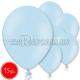 "10.5""/27cm lateksa balons, pastels, gaiši zila, 15 gab."