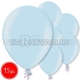"12""/30cm lateksa balons, metalliks, gaiši zils, 15 gab."