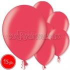 "10.5""/27cm lateksa balons, metalliks, ķiršu sarkans, 15 gab."