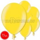 """10.5""""/27cm lateksa balons, metalliks, citrusu dzeltena, 15 gab."""