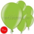 """10.5""""/27см шар из латекса,  металлик, зеленый лайм, 15 шт."""