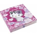 Салфетки бумажные с рисунком, Тема - Hello Kitty, Charmmy Kitty 33см х 33cм  20 шт.