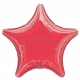 "19""/48cm, folija balons,  Zvaigzne, sarkans"