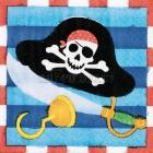 Салфетки бумажные с рисунком. Тема - пиратские сокровища. 24.7см x 24.7см 16 шт.