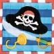 Dekorativais papira salvetes Tēma: Pirāti 24,7cm  x 24.7cm 16 gab.