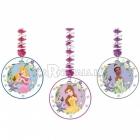 Подвесные декорации из фольги и бумаги  Тема: Принцесса 1.2м x 23см 3 шт