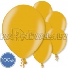 "Metalliks, zelta, 10.5""/27cm lateksa baloni, 100 gab."