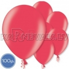 """Metalliks, sarkani, 12""""/30cm lateksa baloni, iepakojumā 100 gab."""