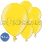 """Metalliks, dzelteni, 12""""/30cm lateksa baloni 100.gab."""