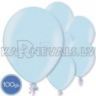 "Metalliks, gaiši zila, 12""/30cm lateksa baloni 100.gab."
