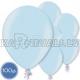 Латексные шары, голубые, металлик