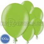 "Metalliks, gaiši zala, 12""/30cm lateksa baloni 100.gab"