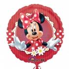"""18""""/45cm, folija balons  Tēma: Minnija Mouse"""
