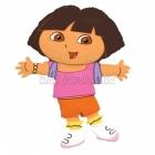 "25""/64cm x 32""/81cm folija balons Tēma: Dora"