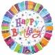 """18""""/45cm шар из фольги Яркая классика  Тема: День рождения"""