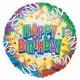 """18""""/45cm folija balons Serpentīns Tēma: Dzimšanas diena"""
