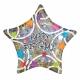 45см шар из фольги Звезды  Тема: День рождения