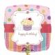"""18""""/45cm folija balons  Saldā kūka Tēma: Dzimšanas diena"""