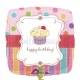 """18""""/45cm шар из фольги Сладкий кекс Тема: День рождения"""