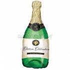 "14""/35cm  x 36""/91cm Folija balons Super figūre  Šampanieša pudele"