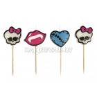 Sveces  3cm  2,5cm 4 gab. assorti Tema:Monster High