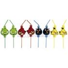 Трубочки для коктейля 24 см 8 шт.Тема : Angry Birds