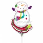 """9"""" Folijas  mini figūre rozete turētājs Tēma: dzīvespriecīgas sniegavīrs"""