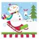Салфетки бумажные с рисунком  Тема:  веселый снеговик  33cm х 33cm  16 шт.