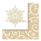 Салфетки бумажные с рисунком  Тема:  блестящие снежинки  33cm х 33cm  16 шт.