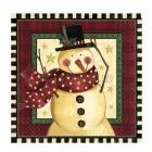 Салфетки бумажные с рисунком  Тема:  уютный снеговик  33cm х 33cm  16 шт.