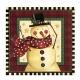 Dekoratīvais papīra salvetes, Tēma: mājīgais sniegavīrs   33cm х 33cm  16.gab.