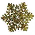 Призматическая снежинка, золото, 35 см