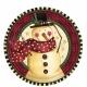 Тарелки с рисунком. Тема:  уютный снеговик 18 см  8 шт