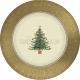 Тарелки с рисунком. Тема: Классическая викторианская елка, диам. 18 см, 8 шт. в упаковке