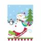 Скатерть с рисунком Тема: веселый снеговик,  пластик, 137см x 259см