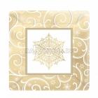 šķīvji ar attelu Ziemassvetku kvadratveidai, 26 cm, 8 gab.