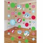 Piekarama dekorācija - Dzīvespriecīgs sniegavīrs, 6 gab x 2.1m