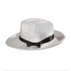 Шляпа гангстера,  белая