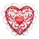 """Воздушный шар  из фольги, 21""""/53cm, Love You!"""